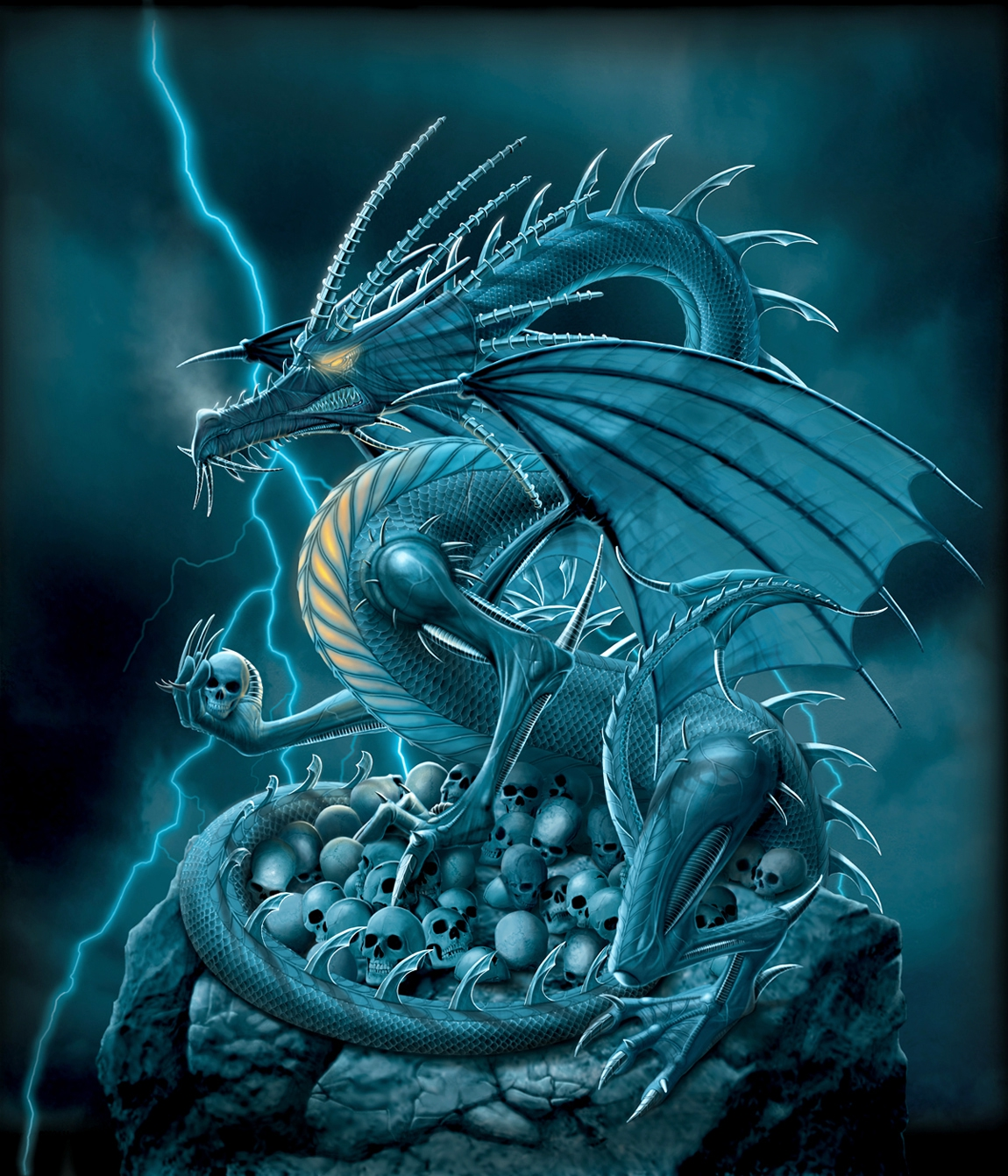 vincent hie productions skull dragon