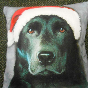 Just Funky Black Lab Santa